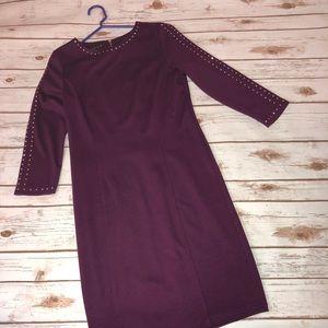 Burgundy cocktail dress